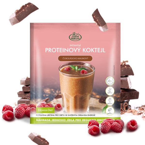 Good Nature Express Diet instantní proteinový čokoládovo-malinový koktejl na hubnutí 60 g