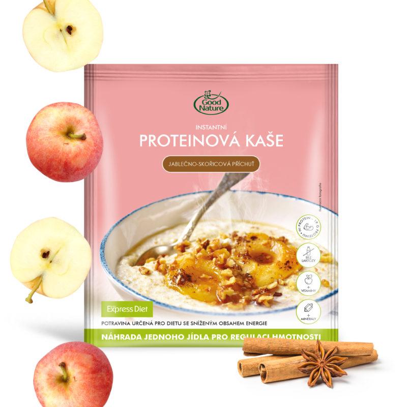 Good Nature Express Diet instantní proteinová kaše s jablečno-škořicovou příchutí na hubnutí 58 g