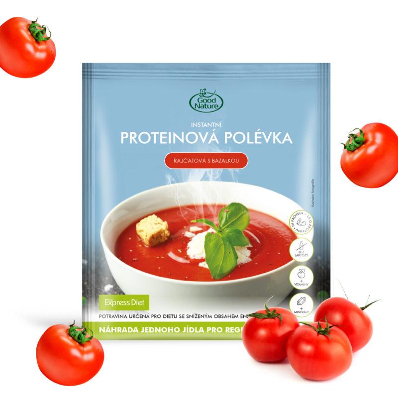 Good Nature Express Diet instantní proteinová rajčatová polévka s bazalkou na hubnutí 60 g