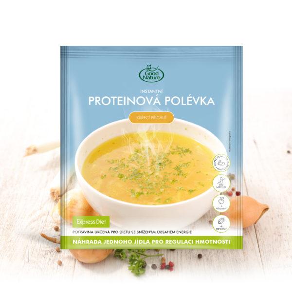 Good Nature Express Diet instantní proteinová polévka s kuřecí příchutí na hubnutí 58 g