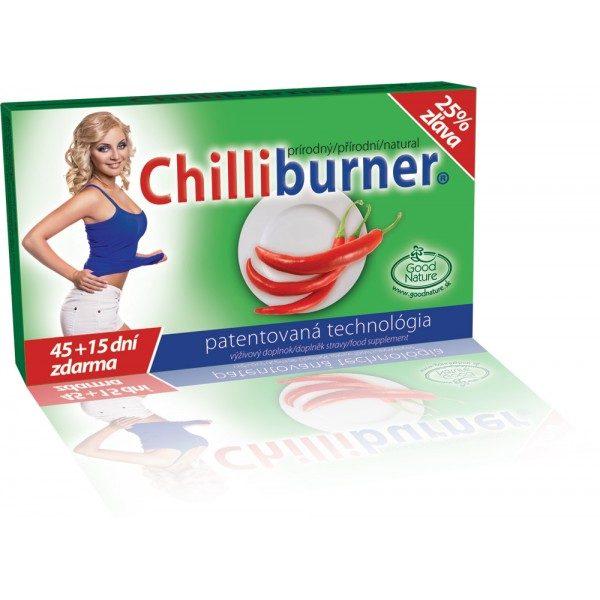 CHILLIBURNER-podpora hubnutí 60 tbl.- 45+15 dnů ZDARMA!