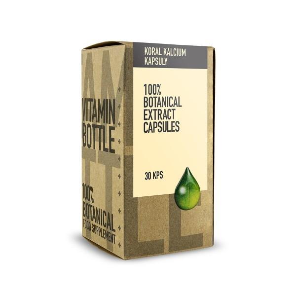 Levně Vitamin-Bottle Koral kalcium 30 kapslí