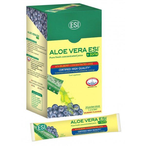Aloe Vera do vrecka - so šťavou z čučoriedok, 24x20 ml