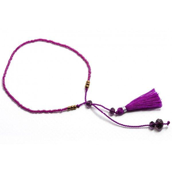 Boho Bižu náramok Friendship Bracelet Multicolor, purple