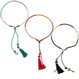 Boho Bižu náramok Friendship Bracelet Multicolor, čierny