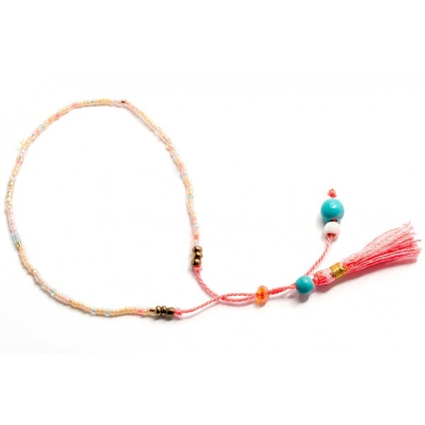 Boho Bižu náramek Friendship Bracelet Multicolor, růžový