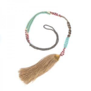 Boho Bižu náhrdelník Bohemian Symbol béžový