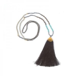 Boho Bižu náhrdelník Bohemian Symbol čierny