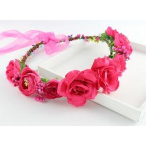Boho Bižu čelenka Flowery Crown