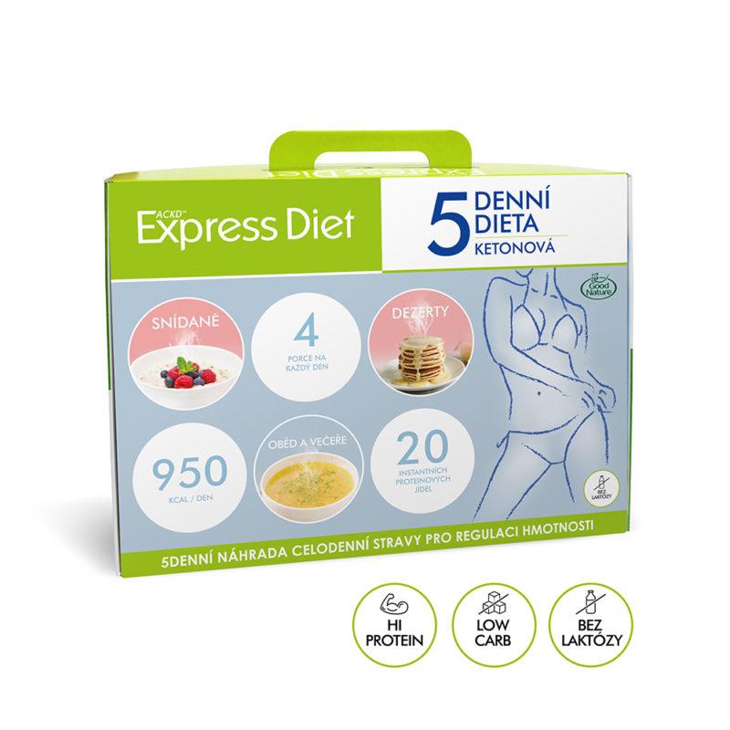 5denní proteinová ketonová dieta na hubnutí Express Diet 20x59 g - nová receptura bez laktózy