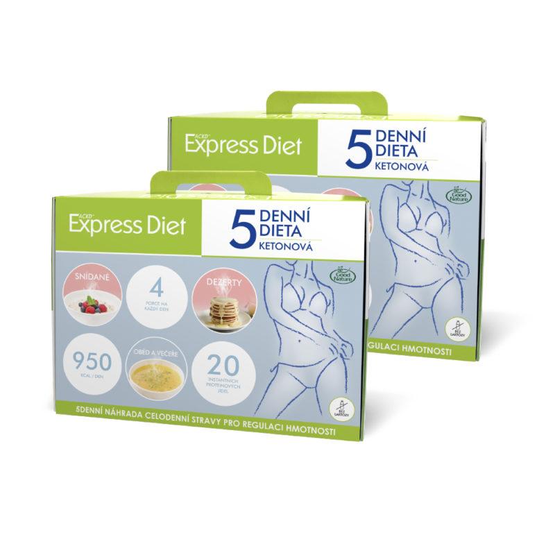 2 x 5denní proteinová dieta Express Diet na hubnutí, 40x59 g