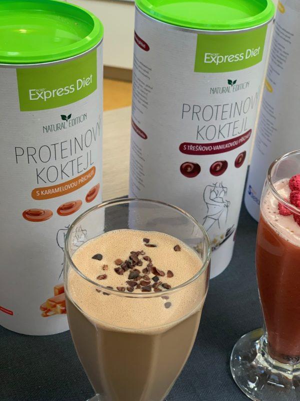 Proteinový koktejl Express Diet vyroben z kvalitního hrachového proteinu bez sóje a bepku.