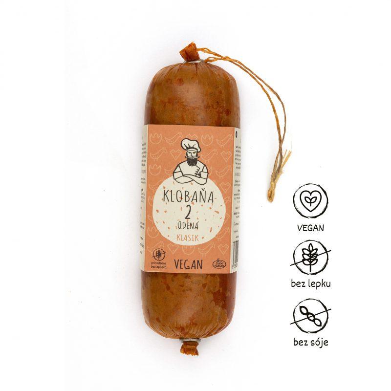 Levně Klobaňa 2 uzená klasik – vegan 250 g