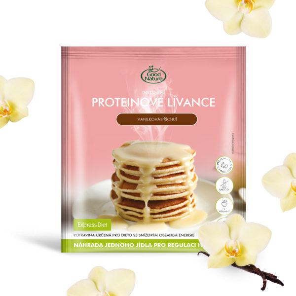 Good Nature Express Diet instantní proteinové lívance s vanilkovou příchutí na hubnutí 65 g